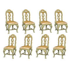 """The Trump Dynasty"" Michael Taylor, Set of Eight Side Chairs"