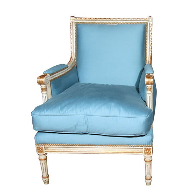 French Bergere Chair Stamped Jansen At 1stdibs