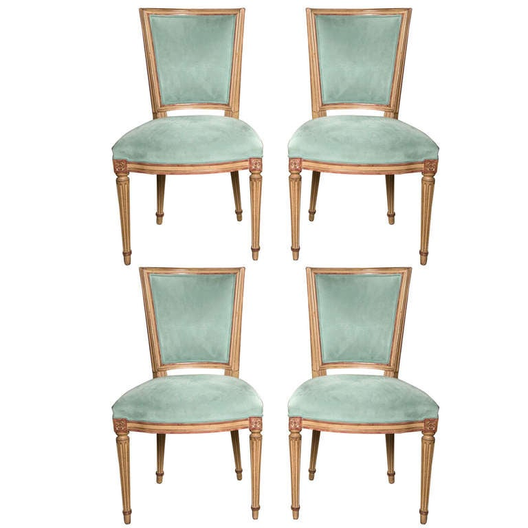 Set Of Four Louis XVI Style Dining Chairs By Jansen At 1stdibs