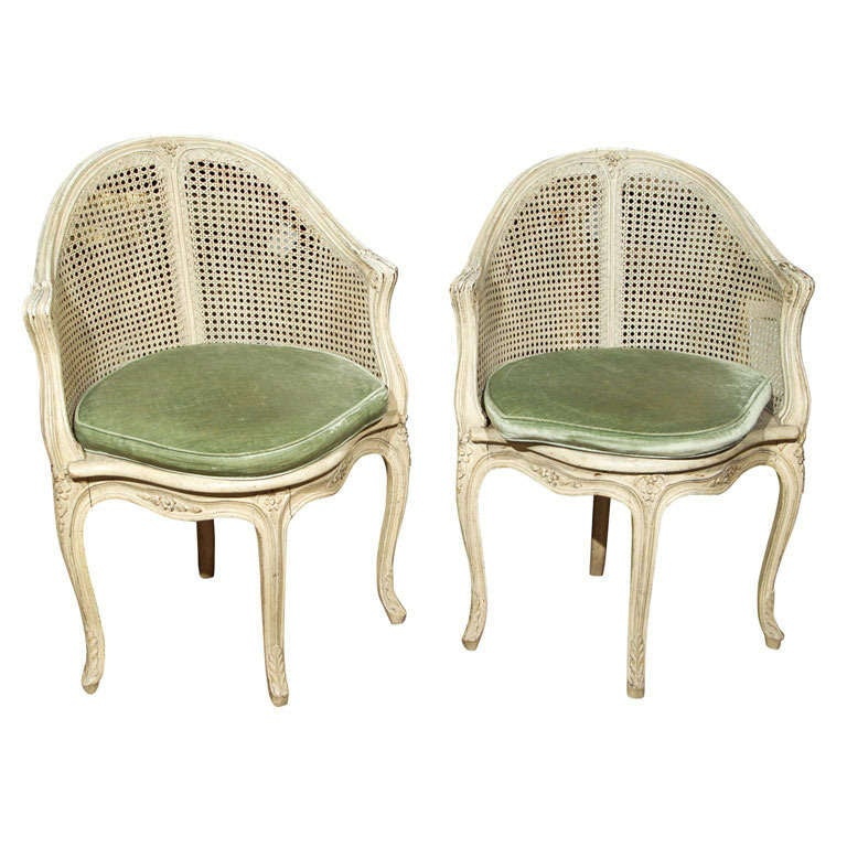 Pair of French Corner Chairs by Maison Jansen