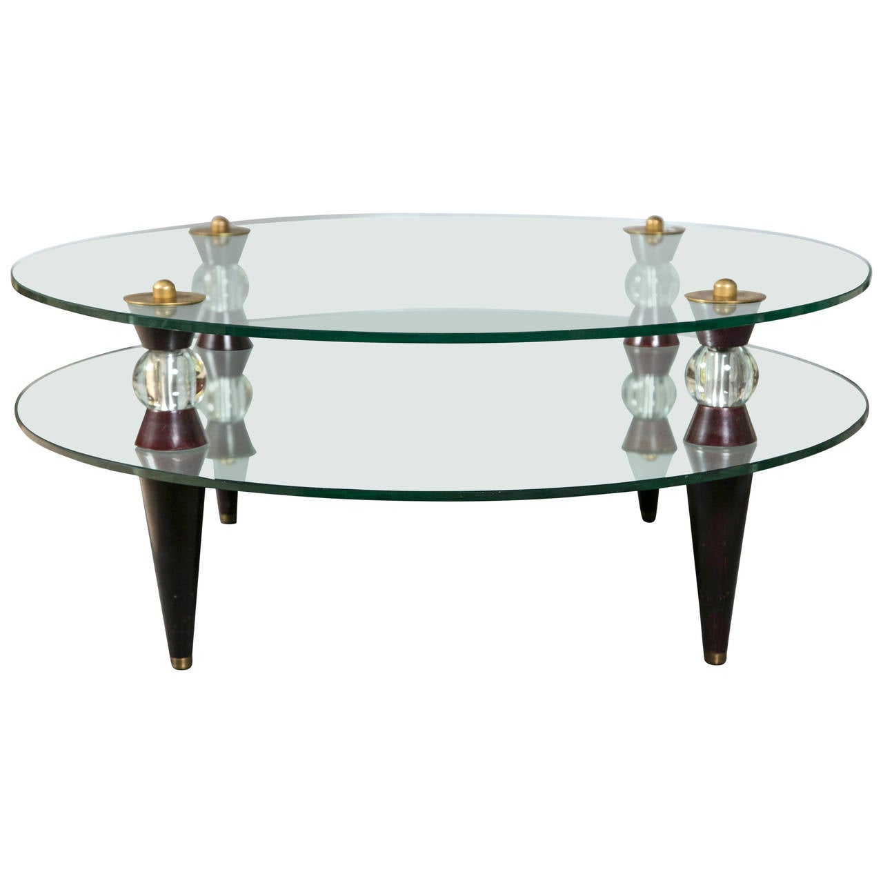 Art Deco Glass And Mirror Coffee Table Mid Century Modern At 1stdibs
