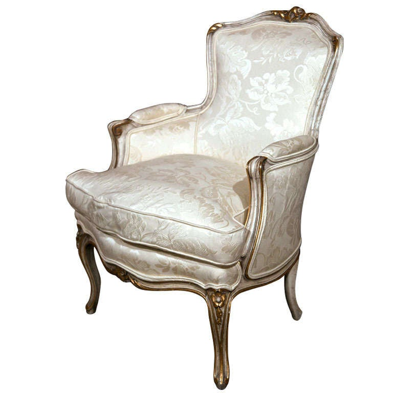 French Louis Xv Style Bergere Chair By Jansen At 1stdibs