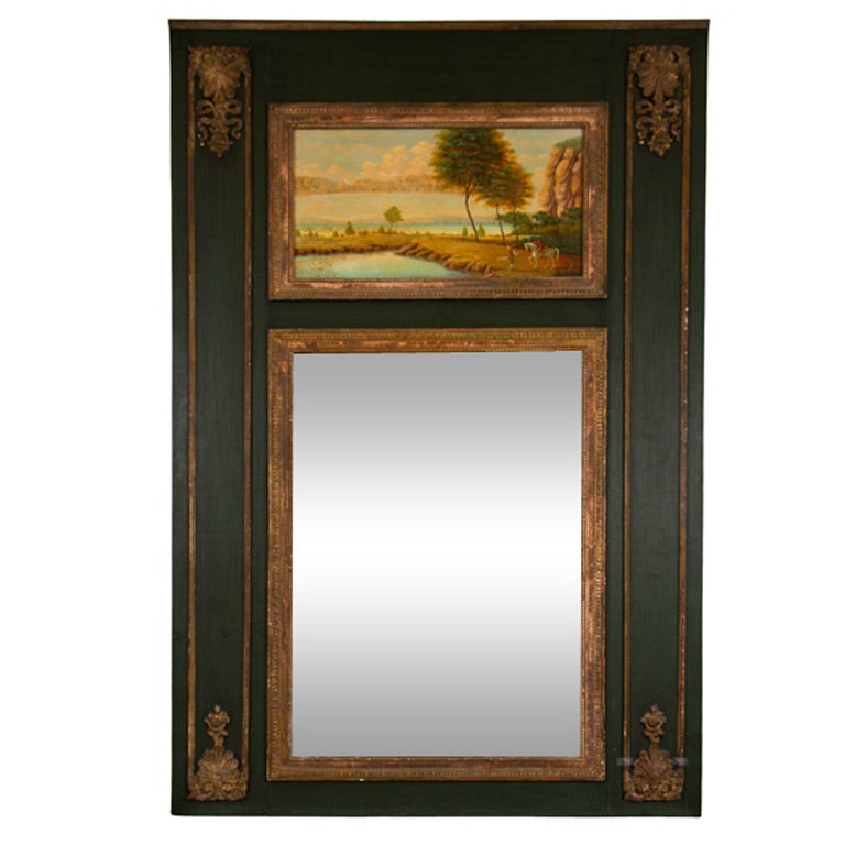 French painted trumeau mirror for sale at 1stdibs for Mirrors for sale