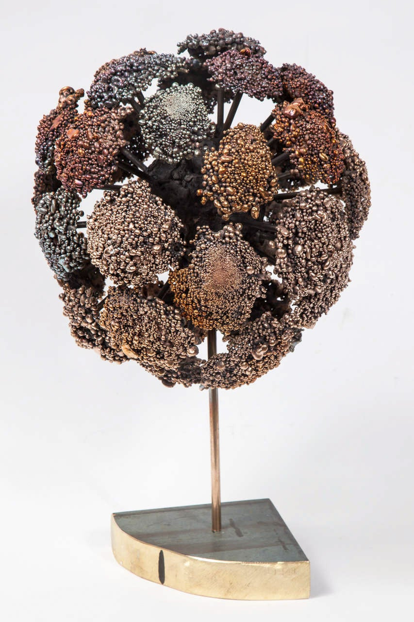 Brass Val Bertoia Bronze Hydrangea Sculpture, 2015 For Sale