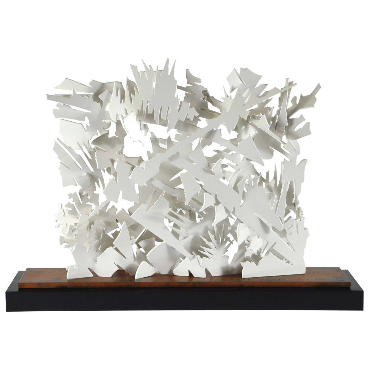 Albert paley interlace sculpture white metal with wood for Jill alberts jewelry highland park