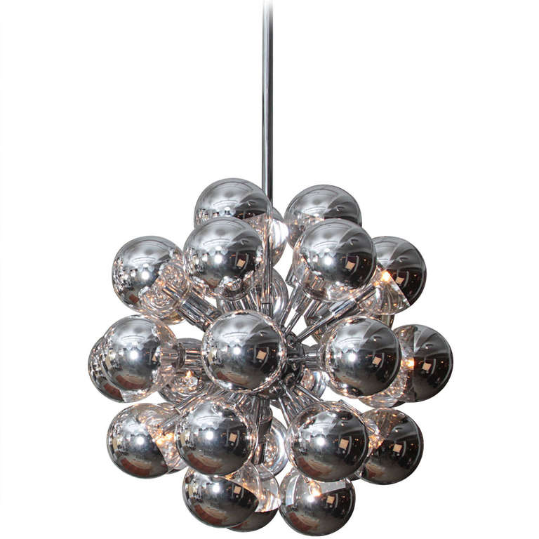 Lightolier Ring Chandelier At 1stdibs: Lightolier Sputnik At 1stdibs