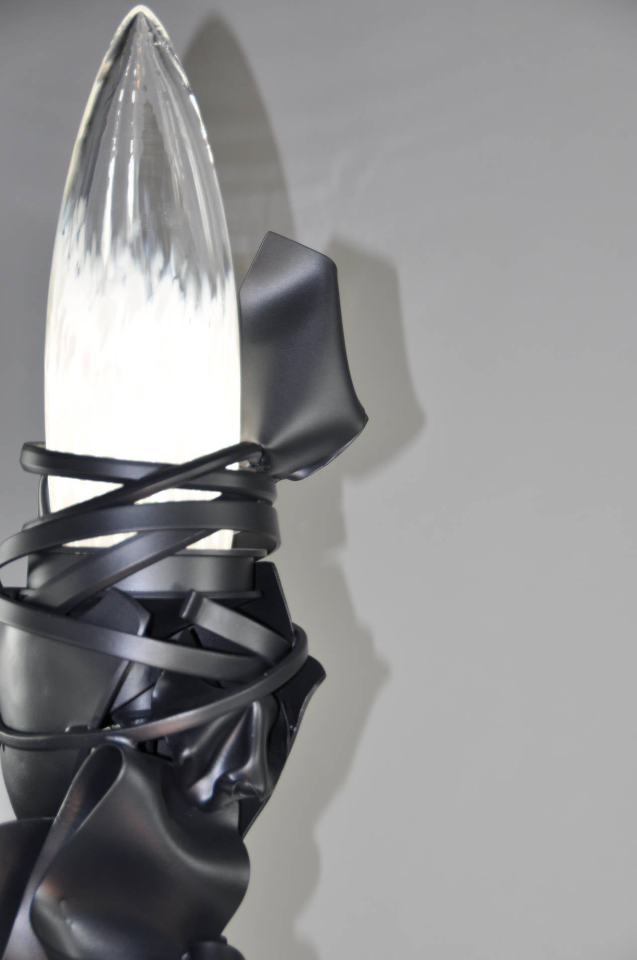 "Albert Paley ""Parabolic Reading Lamp"", Black Metal and Glass, 2014 In Excellent Condition For Sale In New York, NY"