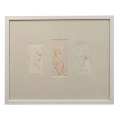 Anthony Quinn Untitled Original Pen and Ink on Paper, 1980 - 1990