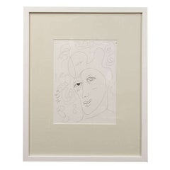 Anthony Quinn Untitled Original Pen and Ink on Paper, 1990