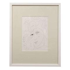 """Anthony Quinn """"Untitled"""" Original Stift und Tinte auf Papier, 1990"""
