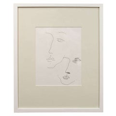 Anthony Quinn Untitled Original Pen and Ink on Paper, 1986