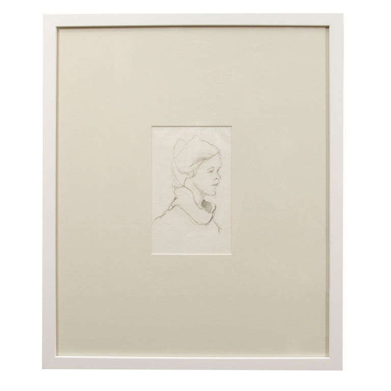 Anthony Quinn Untitled Original Pencil Sketch on Paper, 1963