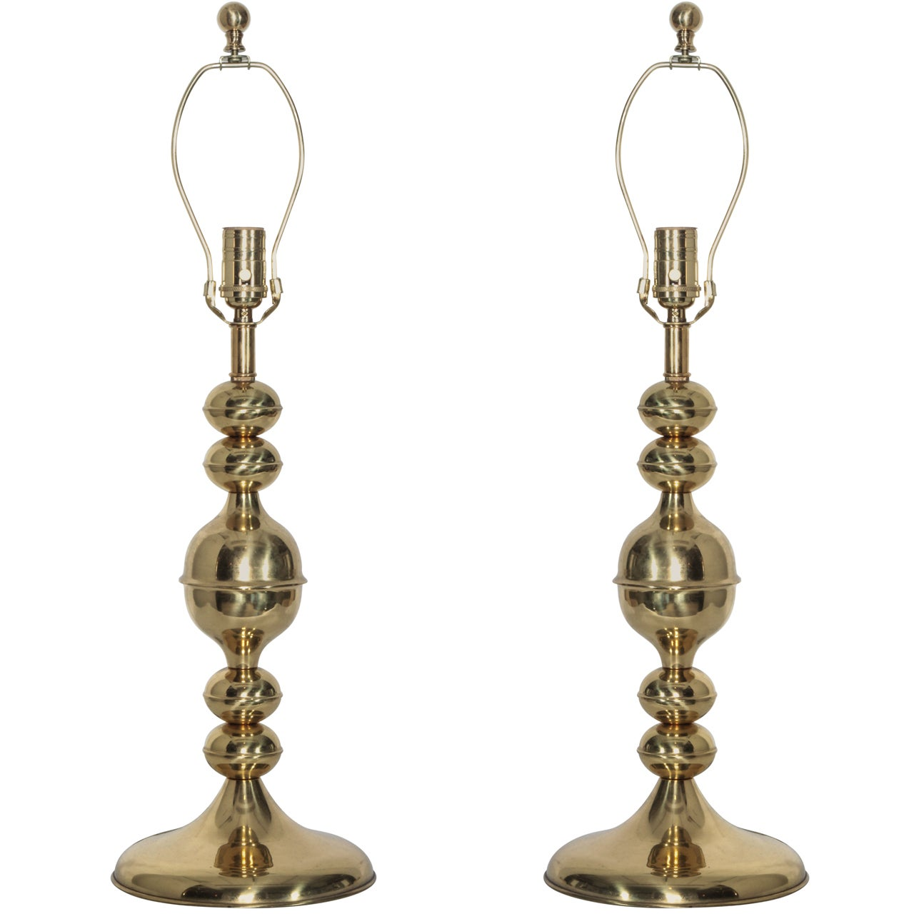 Pair of Brass Kosta Table Lamps, circa 1970s