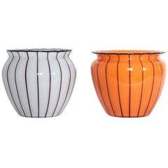 Pair of Michael Powolny Loetz Vases, circa 1914-1915