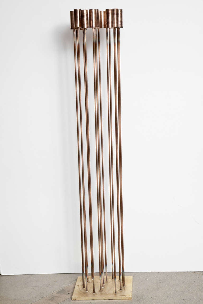 Contemporary artist Val Bertoia's 'S for Sound Sculpture' is part of the Bertoia Sonambient series. This 2014 piece is inscribed B-1762 on the side of base and is sold with a Title of Authentication from Bertoia Studio. Additional pieces of Val