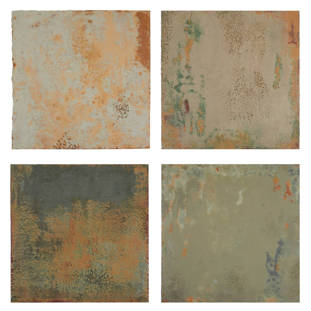 Richard Hirsch Encaustic Painting of Nothing Series, circa 2010-2012