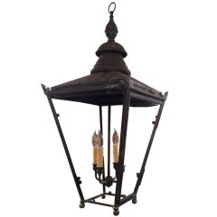 Large 19th C English Copper Lantern