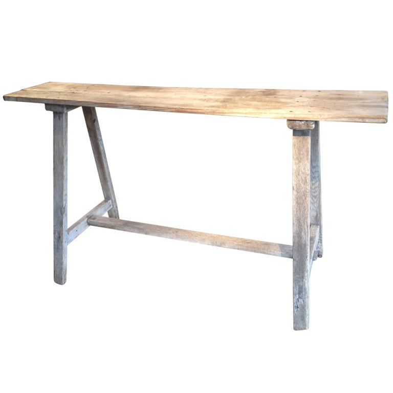 19th C French Lavandiere Trestle Table At 1stdibs