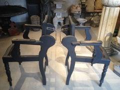 Pair of 19th Century Scottish Barber's Chairs