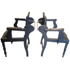 Pair of 19th Century English Barber's Chairs