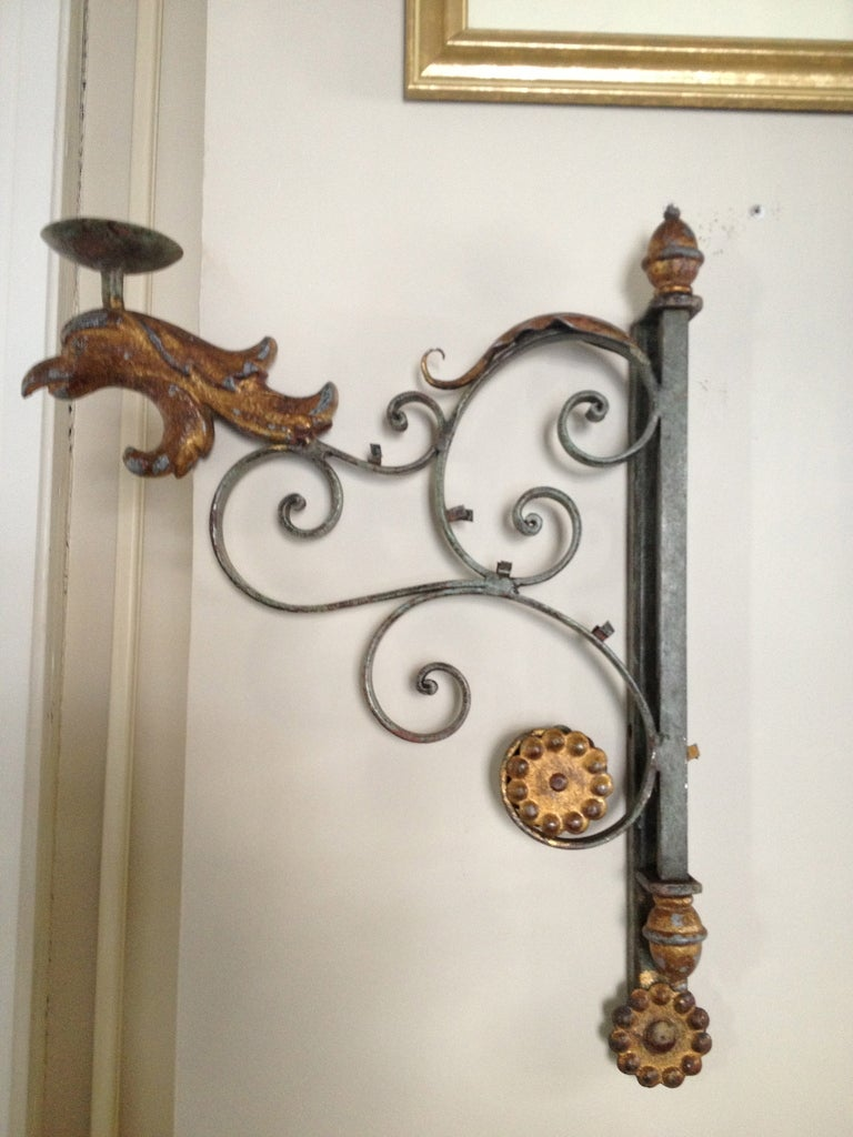 Pair Decorative French Candle Sconces at 1stdibs