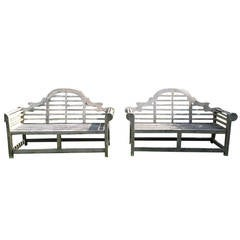 Pair of English Lutyens Benches