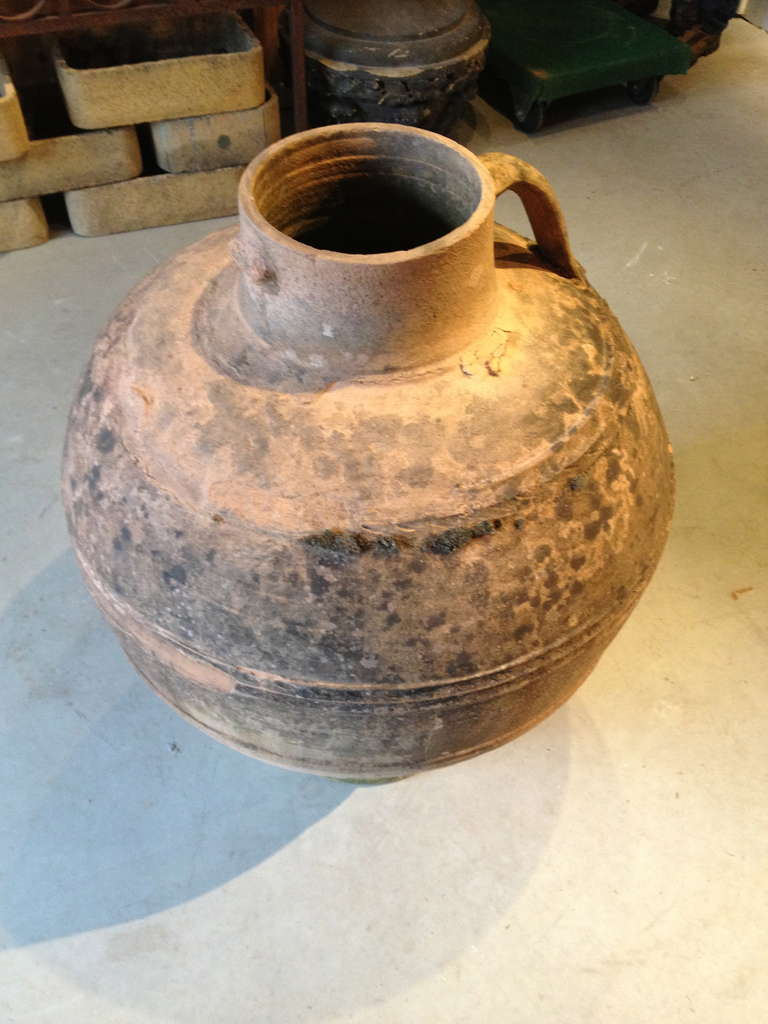 20th Century Large Spanish Terracotta Amphora For Sale