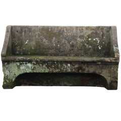 Magnificent One Piece 18th C Stone Bench