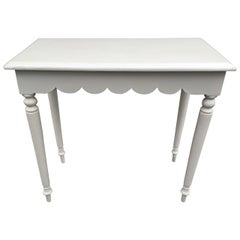 Painted French Scalloped Side Table