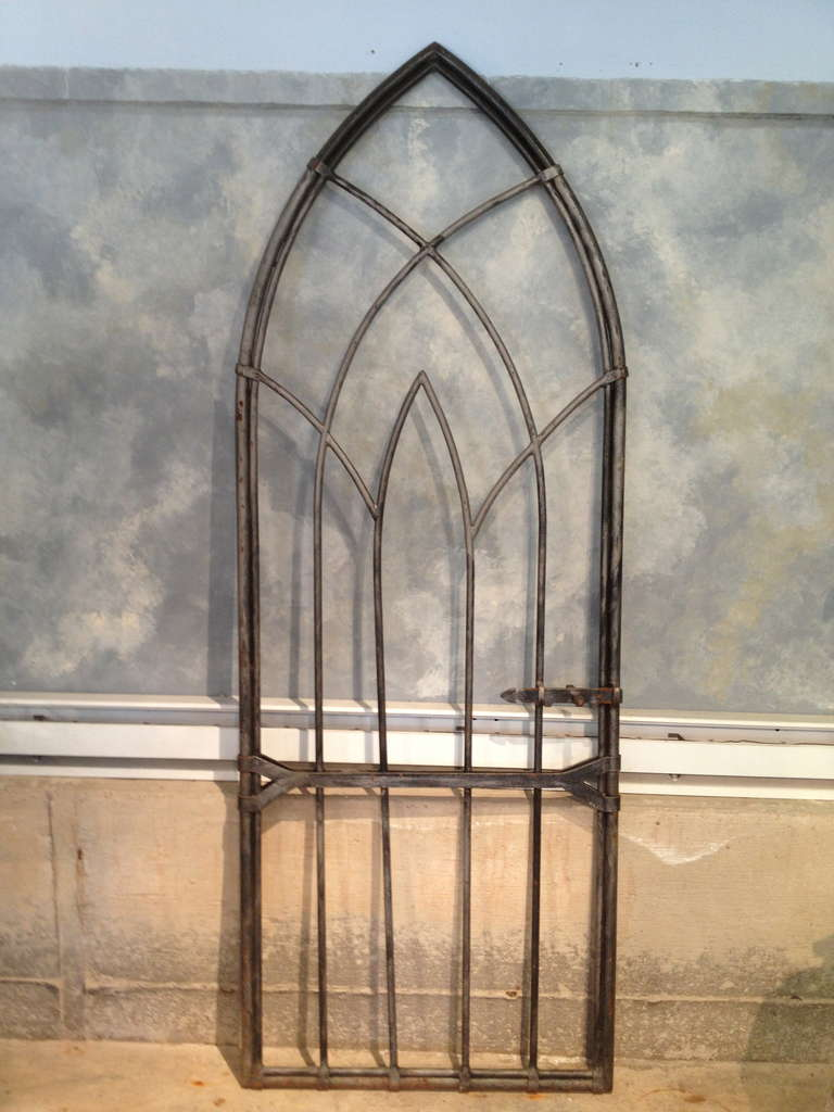 English Arched Gothic Steel Gate At 1stdibs