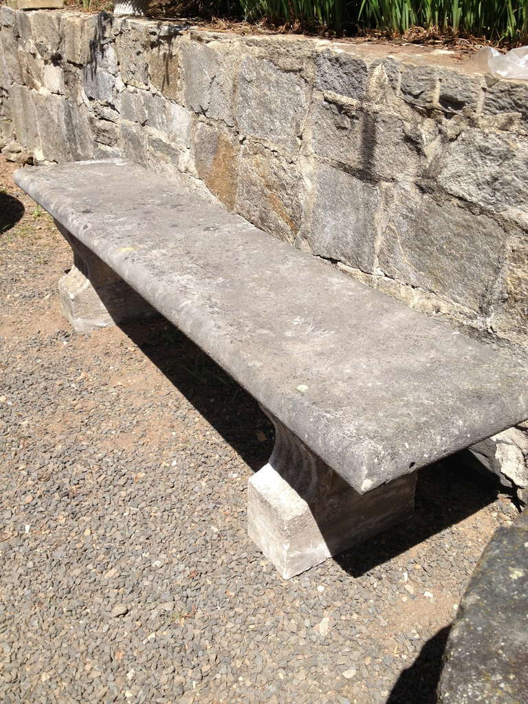 19th Century, French Limestone Bench 3