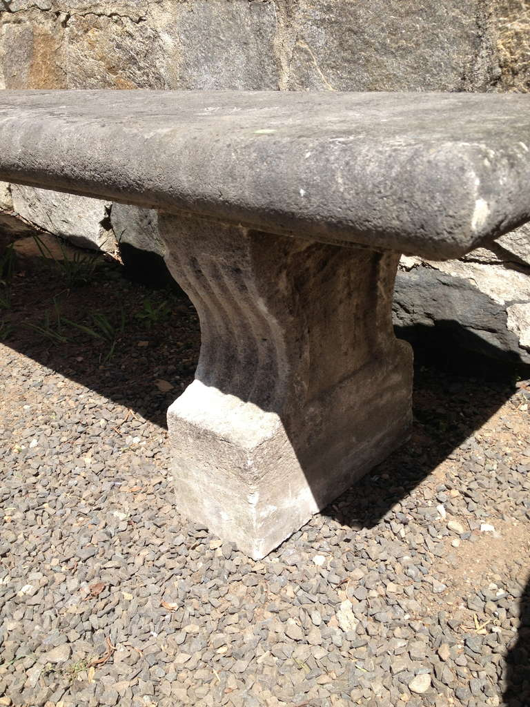 19th Century, French Limestone Bench 4