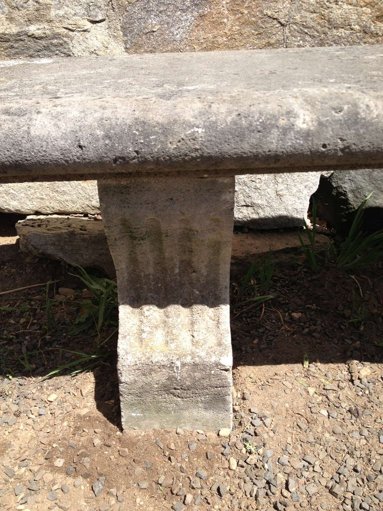 19th Century, French Limestone Bench 5