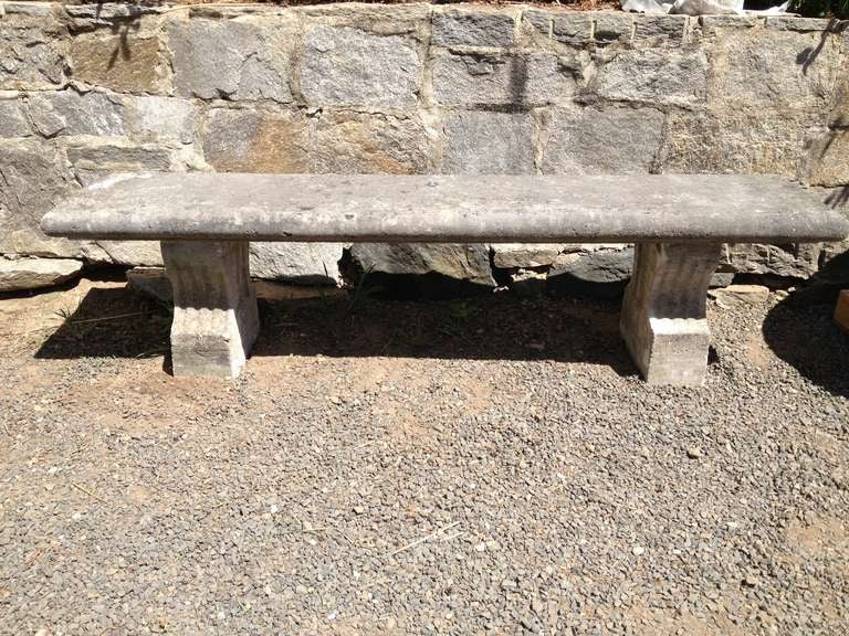 19th Century, French Limestone Bench 2