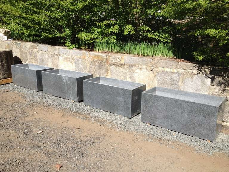 Two Pairs Of Large Contemporary Granite Planters For Sale At 1stdibs