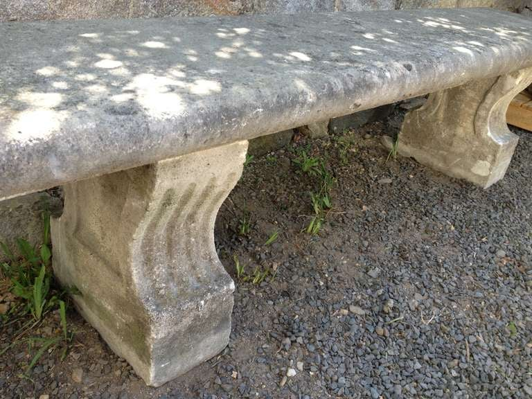 19th Century, French Limestone Bench 8