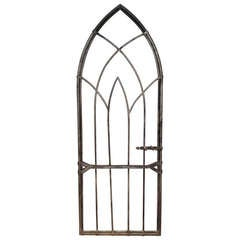 English Arched Gothic Steel Gate
