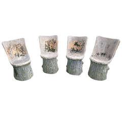 Fabulous Set of Four Faux Bois Chairs