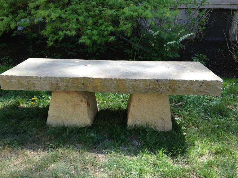 Carved Stone Bench : Elegant th c carved stone bench at stdibs