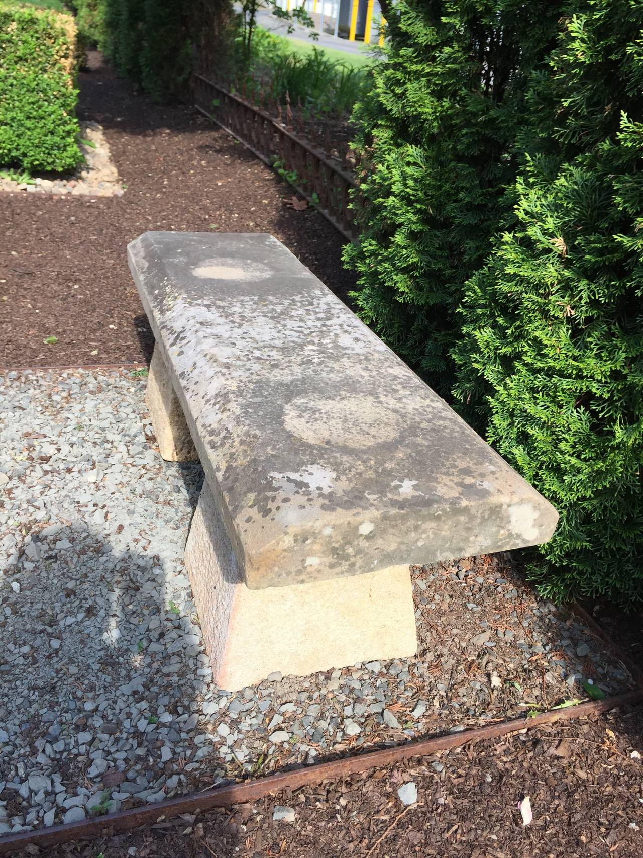 Carved Stone Bench : Th century english carved stone bench at stdibs
