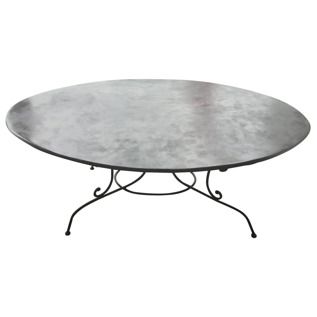 Large Oval French Wrought Iron Dining Table At 1stdibs