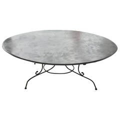 Large Oval French Wrought Iron Dining Table