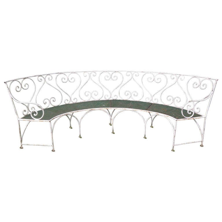Wrought Iron French Garden Bench For Sale