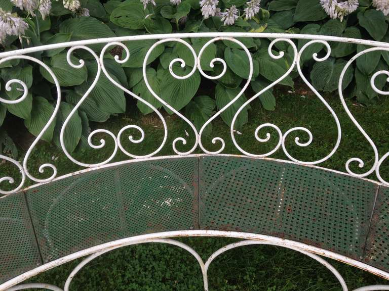 Wrought Iron French Garden Bench 7