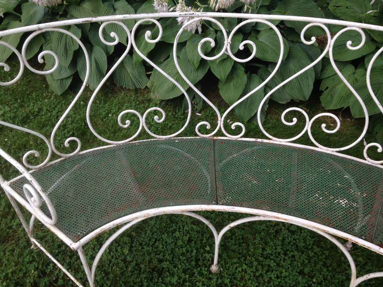 Wrought Iron French Garden Bench 6