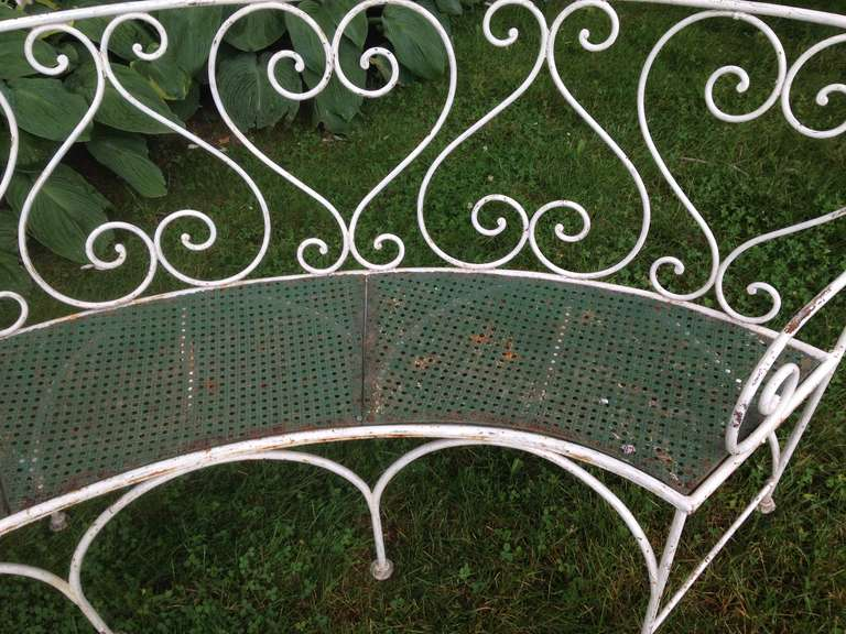 Wrought Iron French Garden Bench For Sale 1