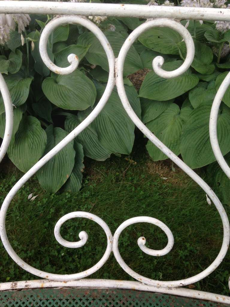 Wrought Iron French Garden Bench 8