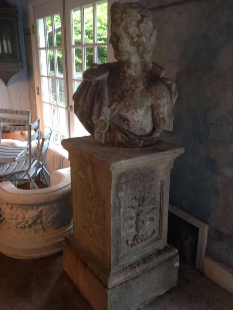 Statuary Marble Stunning 18th Century Lifesize Marble Bust of Apollo For Sale