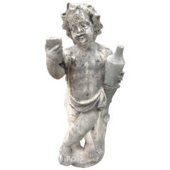 18th Century Pierre De Seine Statue of Youthful Dionysus