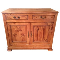 French 19th Century Louis Philippe Burled Ash Buffet